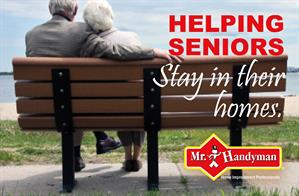"""Helping Seniors Stay in their homes"" banner"